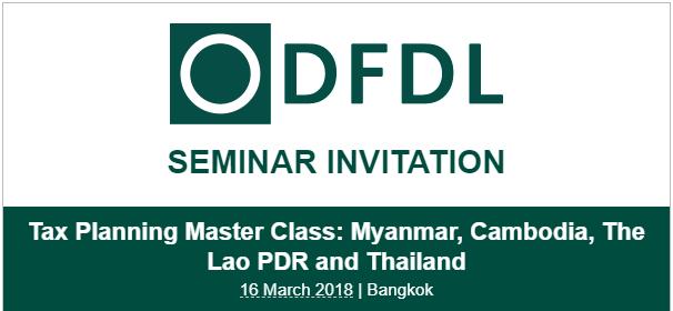 DFDL Seminar Invitation: Tax Planning Master Class: Myanmar ...